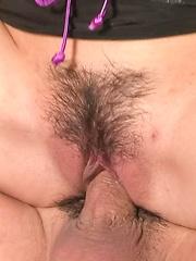 Mizuki Ishikawa Asian with hot ass has shaved slit and sucks dick