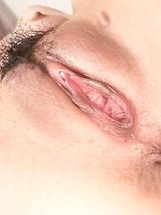 Nozomi Hatsuki Asian squirts while is fingered and sucks boner