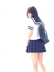 Minami looks like a pretty soldier manga girl waiting to join Sailor Moon. You know that anime? The team of schoolgirls who jump and flash their panties!
