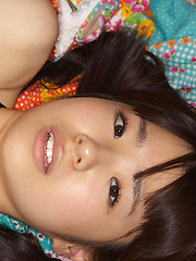Hikari Azuma Asian shows hot butt under skirt and naughty boobs