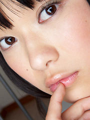 Tomoe Yamanaka Asian in pink long socks is suck apettizing babe