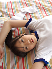 Rina Toiro Asian in sports outfit is naughty playing with socks