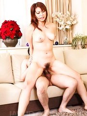 Hitomi Araki Asian gets cocks in holes and between her boobies