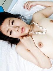 Yuri Hirayama Asian gets vibrator, cock and cum in her fuck hole