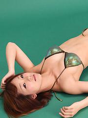 Ichika Nishimura Asian on heels looks simply hot in lingerie