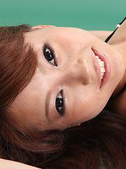 Chinatsu Sasaki Asian with big assets and sexy tummy gets pics