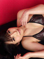 Maria Akamine Asian on heels is very hard to resist in lingerie