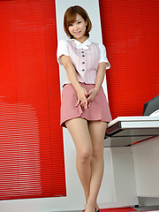 Ichika Nishimura Asian is such elegant lady in office outfit