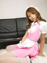 Momoka Narushima Asian in long sucks is very sexy house keeper