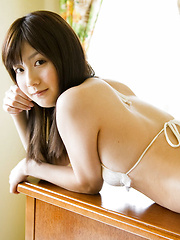 Anna Nakagawa Asian shows hot body in tiny lingerie on furniture