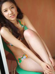 Cocoro Amachi Asian loves some sun heat on fit body in lingerie