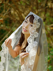 Neo Asian is sexy both as cowboy and as a bride in the forest
