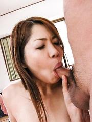 Rika Minamino Asian has asshole and hot box fucked same time