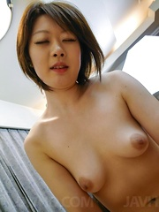 Haruka Sasano Asian has twat aroused with vibrator and screwed