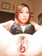 Mirei Yokoyama Asian is fucked with vibrators in mouth and crack