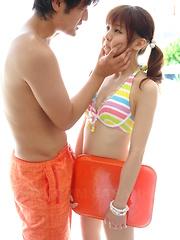 Creampie fills bound Asian teen Hikaru Aoyama