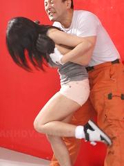 Victim used then Shizuka Minami saves her.