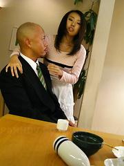 Horny housewife Yui Asao getting a good fuck.