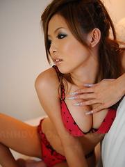 Naami Hasegawa looks tempting in her undies.