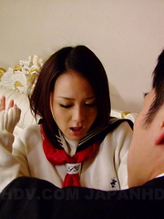 Stunning Rui Natsukawa gets fucked on bed