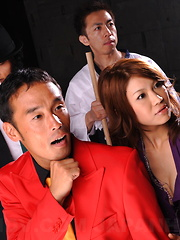 Arouing Runa Sesaki poses in her hot dress