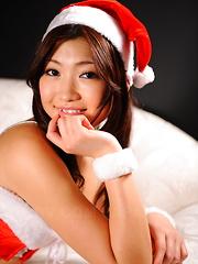 Brunette Karin Kusunoki teases in her costume