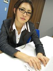 Alluring Julia Nanase seduces her hot client