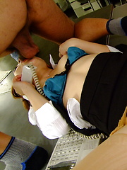 Hot secretary Iroha Kawashima gets drilled
