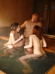 Arousing girls get drilled in hot springs
