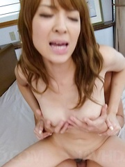 Hikaru Shiina Asian strokes tools and gets them inside her crack