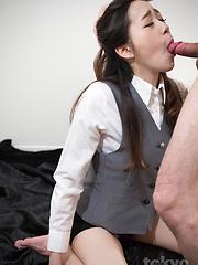 Hot deepthroat for Isaka Nao