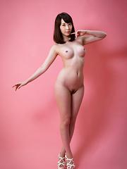 Aya Kisaki shows her pussy