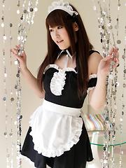 Japanese maid Tsubasa Sakurai