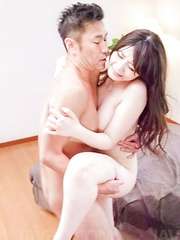 Rie Tachikawa Asian with big ass and cans sucks dongs in gangbang