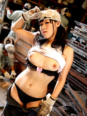 Hot darling Aoi Nohara shows her fine tits