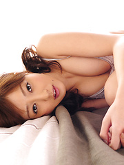 Natsuki Ikeda Asian with big knockers and hot lingerie is naughty